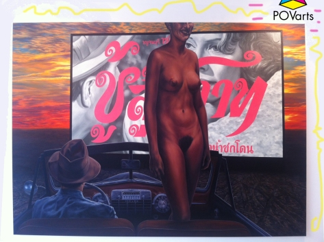 Down In Front: Dead Reckoning Oil on canvas 