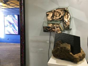 "Anne Vieux, ""Repeat IX""; MaDora Frey, ""Kaleidoscope 1000""; Kurt Steger, ""Urban Structure No. 11"""
