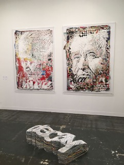 "Alexandre Farto aka Vhils, ""Collapse 1"" and ""Collapse 8"""