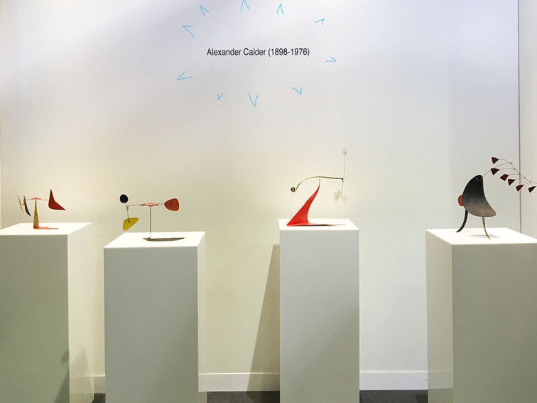 Installation of small works by Alexander Calder