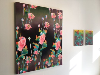 "Brian Willmont, ""Untitled Poppies"", ""Untitled Roses"""